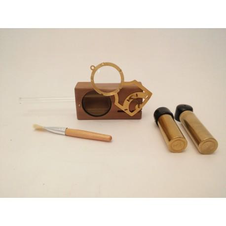 Monocle Edition Magic-Flight Launch Box Vaporisateur portable - noyer / walnut